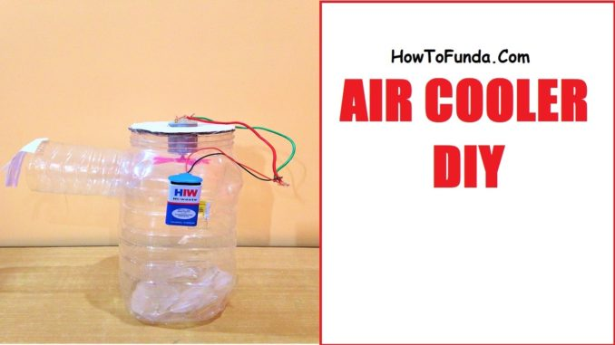 Air cooler working model for school science exhibition