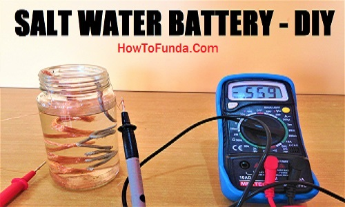 Saltwater battery making for school science exhibition DIY