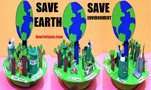 Save earth/environment project 3d model for science