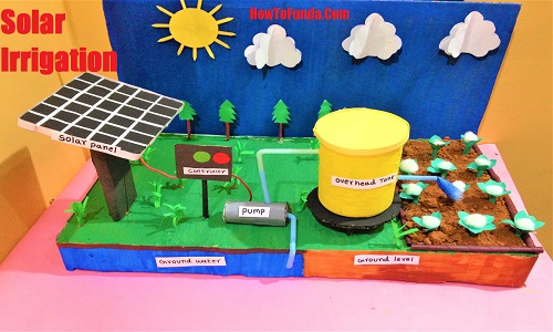 Solar Power Irrigation System Project Model For School